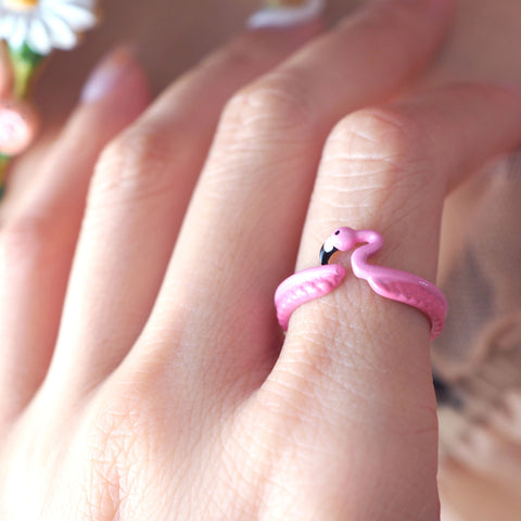 N2 - AMAL604 PINK FLAMINGO ADUSTABLE RING