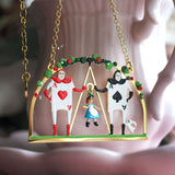 N2 - AMAL309 ALICE AND THE CARD SOLDIERS PENDANT NECKLACE