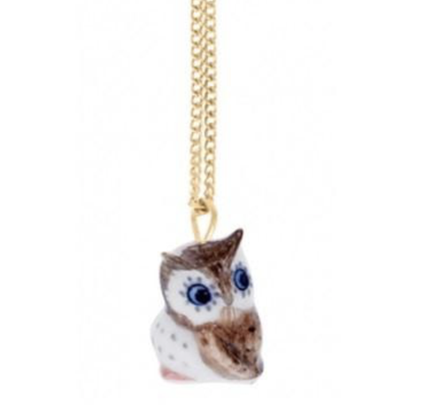NB - U062G Necklace Blue eyes mini Owl