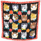NL- Silk Scarf Cats Head