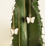 NB - J401 Butterfly long earrings