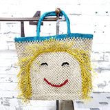 TJ - 025 Miss Molly Jute Bag /  Sky Blue