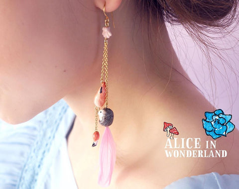 NB - MR J03 Croquet Flamingo Earrings