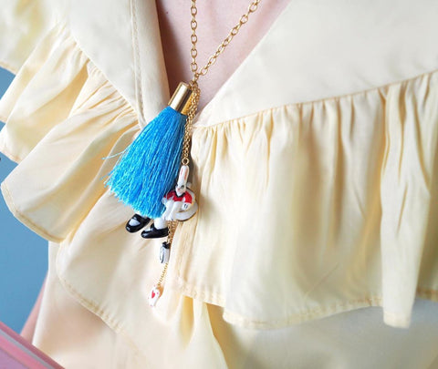 NB - MR U02 Alice Blue Dress Necklace