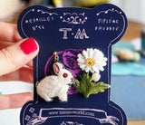 TM - Earrings Rabbit & Daisy