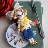 ES - ES090 Lollipop Summer Girl Doll Charm / Yellow