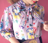 NL - SSMR-071 Big Bow Tie Shirt / Lavender
