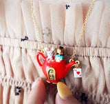 N2 - AMAL304 ALICE AND WHITE RABBIT IN A TEAPOT PENDANT NECKLACE