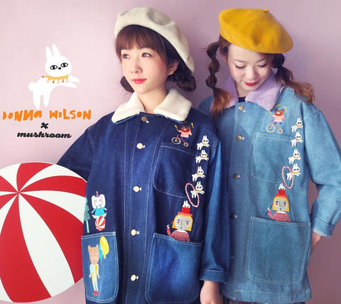 DW - Circus Embroidery Denim Coat