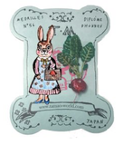 TM - OG2664 Mushroom Rabbit & Turnip Brooch