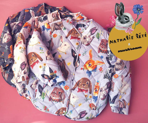 NL - Rabbit Print Cotton Jacket