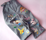 NL - Rabbit Embroidery Jeans / Pants