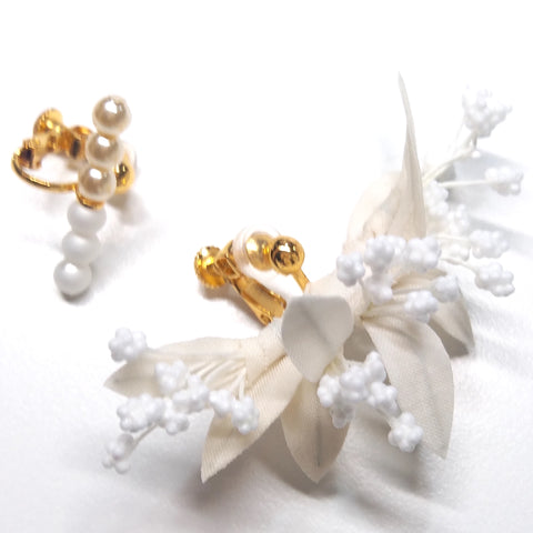 HFC - 883 Stems & Pearls Ear Cuff