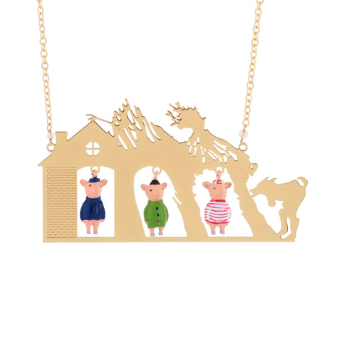 N2 - AGIL302 THE 3 LITTLE PIGS AND THE BIG BAD WOLF LONG NECKLACE