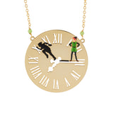 N2 - AHIL301 PETER PAN AND HIS SHADOW ON THE BIG BEN'S FACE LONG NECKLACE
