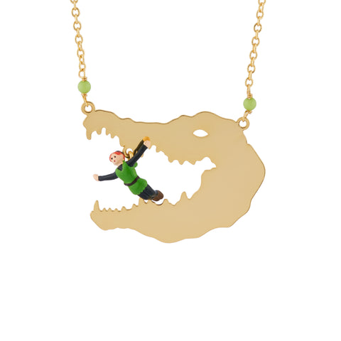 N2 - AHIL302 PETER PAN IN THE CROCODILE'S MOUTH LONG NECKLACE