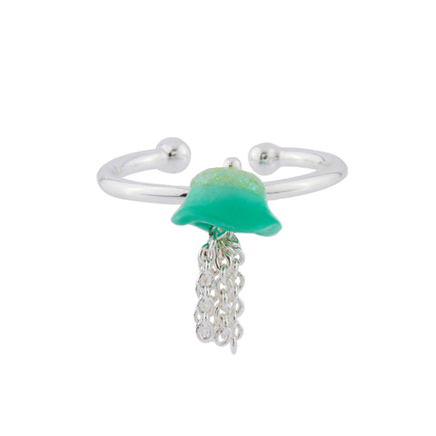 N2 - AHJS607 LITTLE BLUE JELLYFISH ADJUSTABLE RING