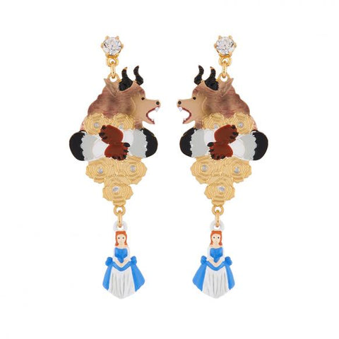 N2 - AIBE103 THE BEAST ON HIS SUNDAY BEST, GOLDEN ROSES AND THE BEAUTY CHARM EARRINGS