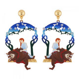 N2 - AIBE108 THE BEAUTY BREAKING THE SPELL CAST TO THE BEAST EARRINGS