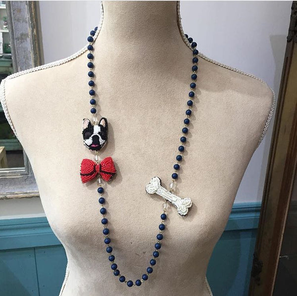 Necklace Dog Bow