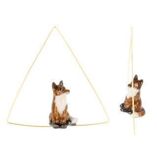 NB - Fox Creoles Triangle Earring