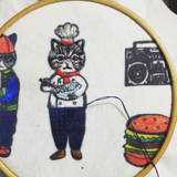 Badge Chef Cat