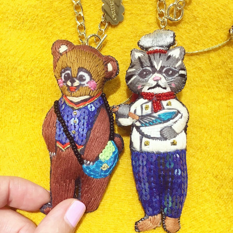 Keychain Chef Cat