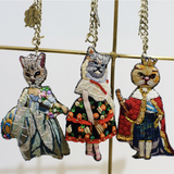 Keychain Lady Cat 18th Century