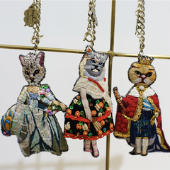Keychain Lady Cat Samba