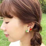 N2 - AGIL104 THE 3 LITTLE PIGS AND THE BIG BAD WOLF ASYMMETRICAL EARRINGS