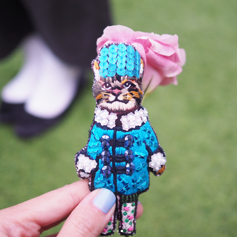 Keychain Blue Coat Cat