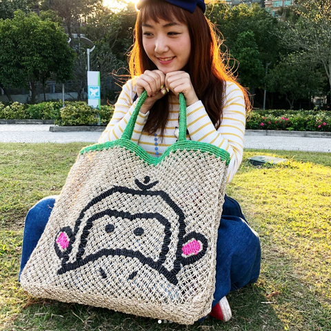 TJ - Monkey Jute Bag