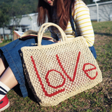 TJ - Love Heart Jute Bag Natural