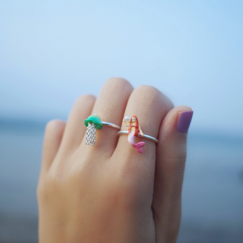 N2 - AHJS602 LITTLE MERMAID ADJUSTABLE RING