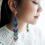 NB - J217 Peacock with Pearls earrings