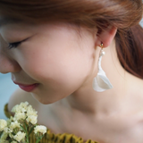 HFC - 913 Anthurium w/ Pearl Earrings