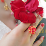N2 - AIBE602 RED ROSE ADJUSTABLE RING
