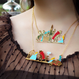 N2 - AIBE316 FLAGSHIP SCENES OF THE BEAUTY AND THE BEAST DOUBLE ROW NECKLACE