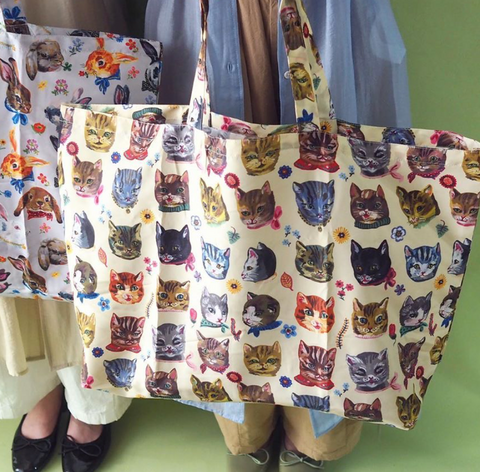 UC - NL289 Nathalie Lete Pocketable Eco Bag Cat