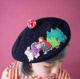 TM - OG2848 Mushroom little red riding hook hat