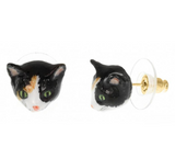 NB - J145 Earrings Mini Brown W/B Cat