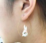 NB - J103 Earrings W.Rabbit Carrot