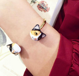 NB - D090 Bangle Black,White & Brown Cat