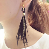 NB - J078 Earrings Black Swan