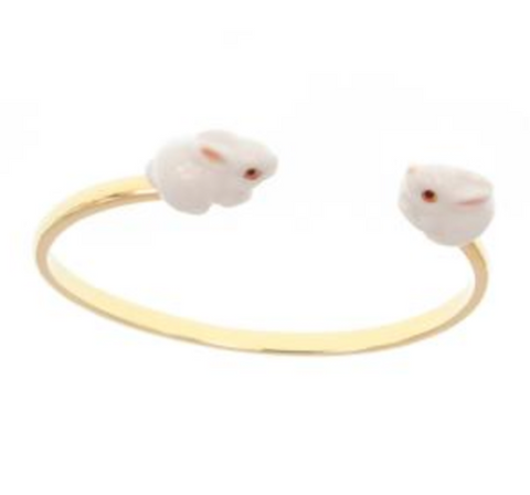 NB - D059 Bracelet White Rabbit face to face