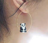 NB - J239 Sitting Panda earrings