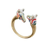 NB - BB70 Colorful zebra face to face ring