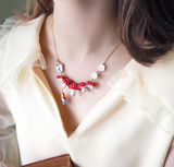 NB - MU2 Little Red & Mushroom Necklace