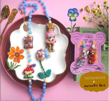 TM - OG2841 Earrings Rabbit & Bear (Mushroom NL)