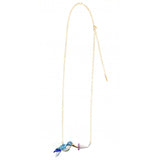 NB - Blue & Green Humming Bird Necklace